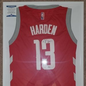 Autographed James Harden Authentic Nike Jersey